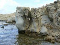 sochy modelované morom - polostrov Lopar