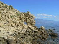skalné okno - polostrov Lopar